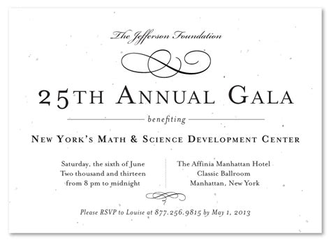Formal Business Dinner Invitation