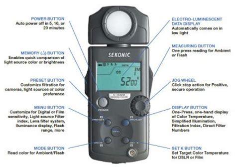 color temperature meter sekonic prodigi c 500 color meter black