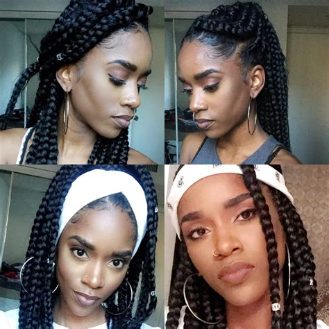 how to style your box braids youtube how to style your jumbo box braids youtube