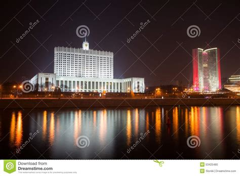 house of government house of government the white house in moscow russia at nigh