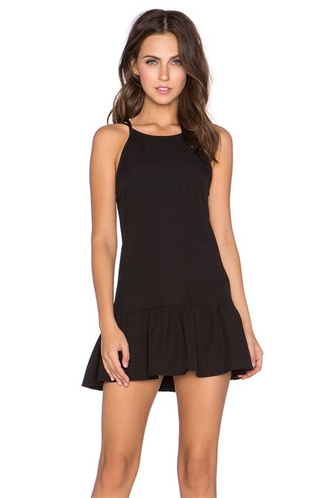 Dress Mini lyst glamorous ruffled hem mini dress in black