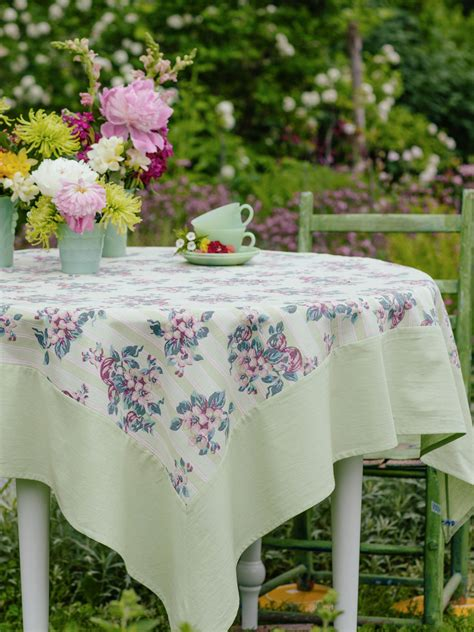 kitchen table cloths blossom stripe tablecloth linens kitchen tablecloths