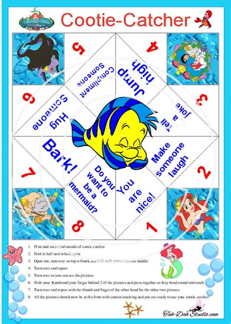 catcher template cootie catcher disney magic catcher paper