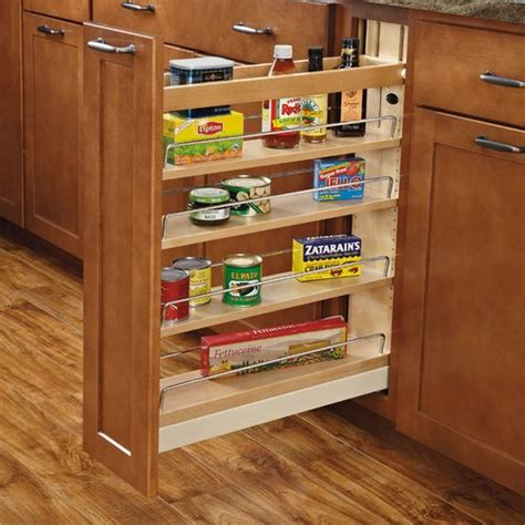 Kitchen Cabinet Shelf Organizers | rev a shelf 5 quot base organizer w soft close 448 bcbbsc 5c