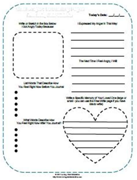 printable grief journal learning to manage anger in grief loving christ