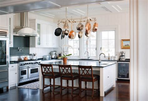 hanging around the kitchen island decohoms hanging pot rack archives design chic design chic