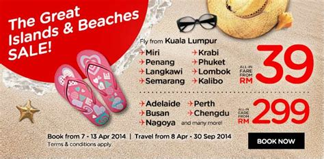 Great Sale F3y Original air asia the great island and beaches sale fly to krabi phuket langkawi miri from only rm39