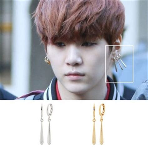bts earrings aliexpress com buy bts bangtan boys suga prig earrings
