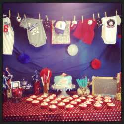 baseball themes baby shower for when the baby comes