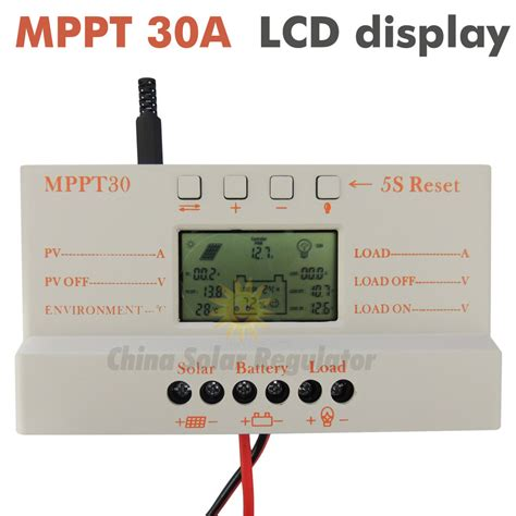 Mppt Solar Charge Controller 30a Pwm Auto 12v 24v mppt 30a solar controller charger 5v usb charger 12v 24v solar panel battery lcd charger