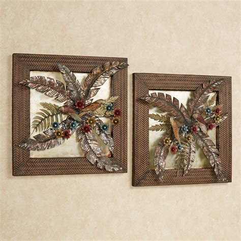 tropical metal wall decor tropical gardens metal wall set