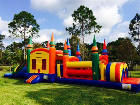 rent bouncy house 3 in 1 bounce house bounce house with slide and obstacles