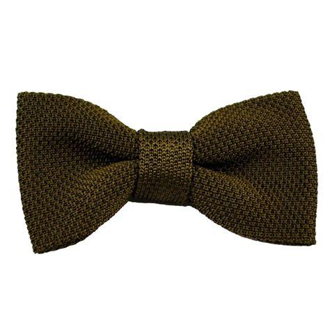 vidoni plain olive green silk knitted designer bow