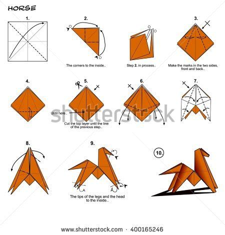 how to make an origami leopard origami animal traditional diagram