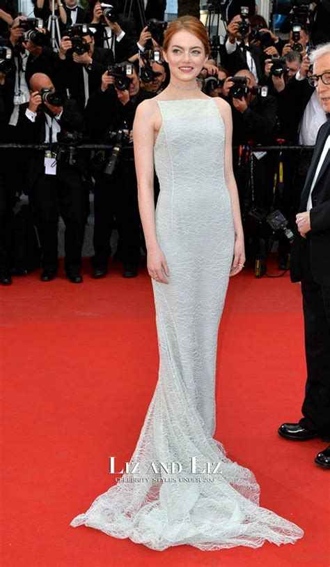 emma stone red carpet emma stone pale blue lace red carpet dress cannes film