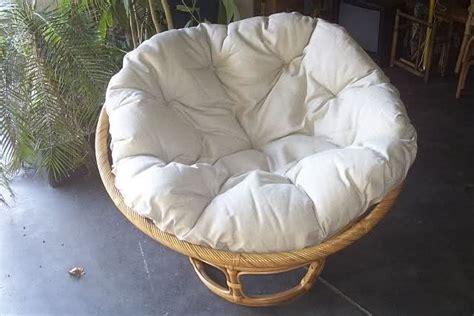gedrehter stuhl rattan sessel papasan mit polster neu honig stuhl
