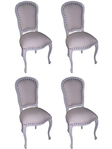 chaise style louis xv 4 chaises style louis xv en acajou blanc meuble de style