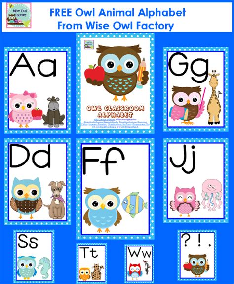 printable alphabet for classroom free owl theme classroom alphabet printable pdf start of