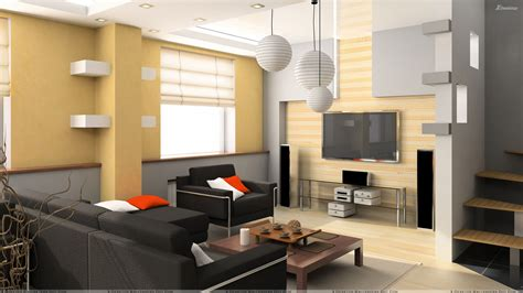 black sofa and golden interior in living room wallpaper