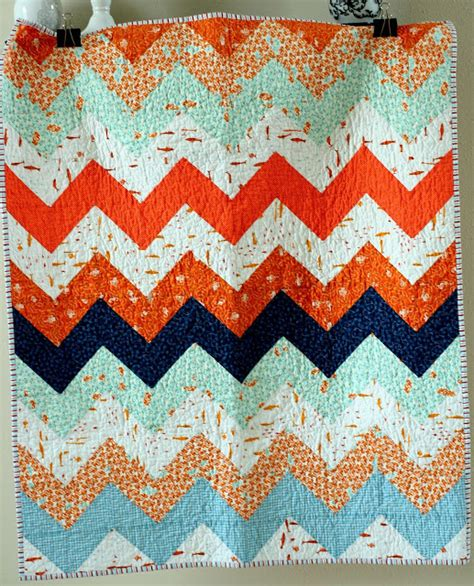 Zig Zag Baby Quilt Pattern by A Quilt Is Zig Zag Quilt Kit Tutorial