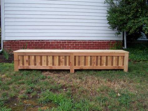 custom outdoor storage bench made custom western cedar patio storage bench by