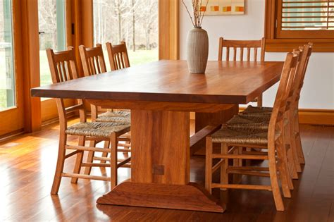 traditional trestle table transitional dining hill trestle table