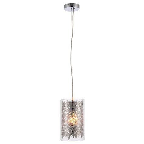 Single Pendant Ceiling Lights Endon Lighting Lacy Single Light Ceiling Pendant With Clear Glass And Chrome Effect Finish