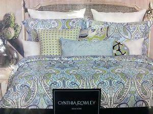 cynthia rowley new york bedding 6 pc new cynthia rowley king paisley floral comforter set aqua green grey