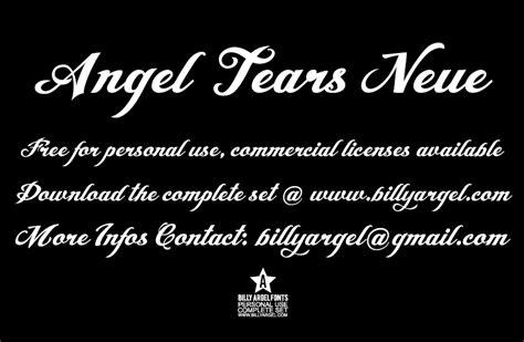 tattoo font angel tears angel tears neue personal us font 183 1001 fonts