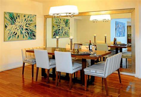 decoracion de comedor  espejos actual