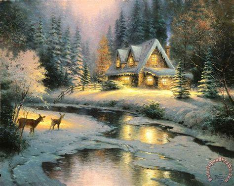 kinkade cottage painting kinkade deer creek cottage painting deer creek