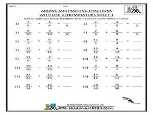 adding and subtracting fractions worksheets free scalien