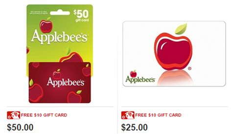Applebee S Gift Card Special - applebees gift certificate gift ftempo