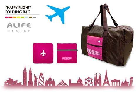 Happy Flight Folding Bag Foldable Travel Bag Car Limited interior flaner shop rakuten global market alife happy flight folding bag 43l happy flight