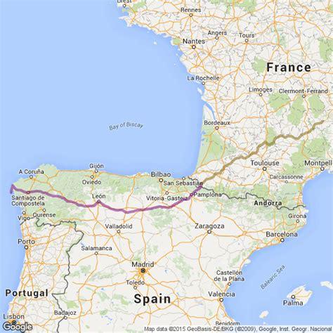 camino trail map camino de santiago