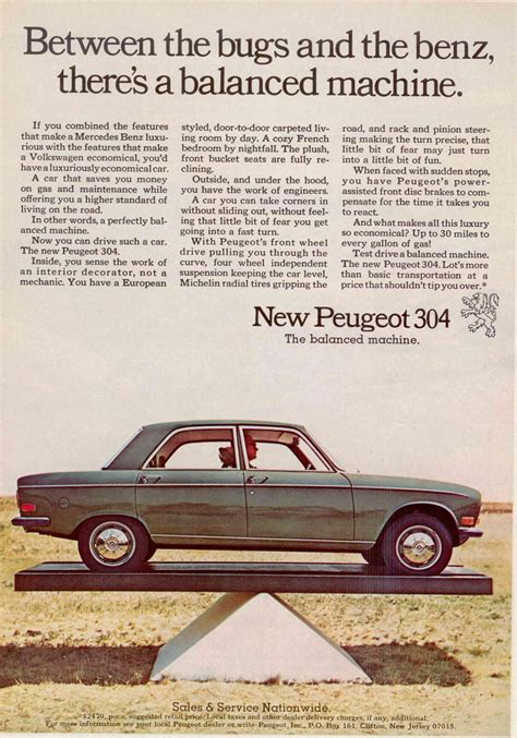peugeot ad curbside classics we d like to find vintage ad scans as