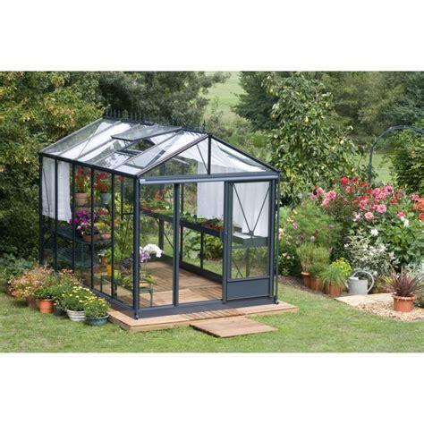 serre de jardin en verre 2804 serre maxi en verre tremp 233 vert laqu 233 9 55 m 178