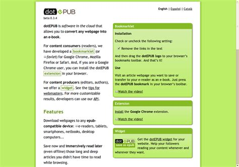 epub format websites save any web page in the epub format with dotepub 187 linux