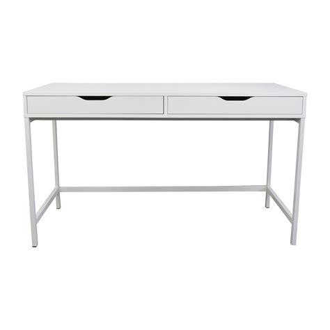 white bench desks white office desk ikea
