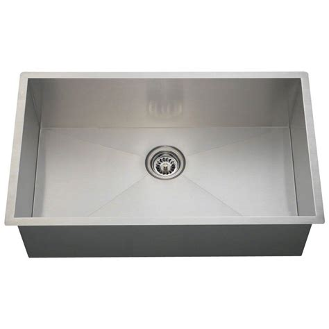 Home Depot Kitchen Sinks Stainless Steel Polaris Sinks Undermount Stainless Steel 32 In Single Bowl Kitchen Sink Ps2233 The Home Depot
