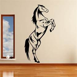 Horse Wall Stickers Uk Horse Rearing Animals Wall Art Stickers Decal Transfers Ebay