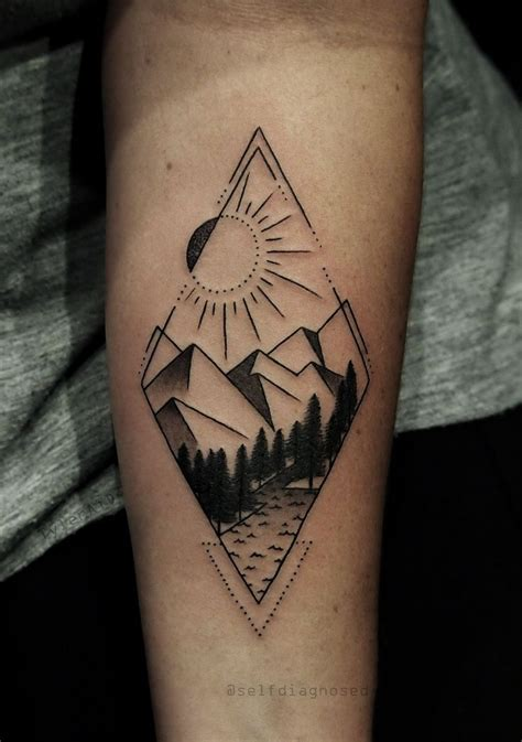 geometric tattoo vorlagen geometric style mountain tattoo by tyleratd whistler