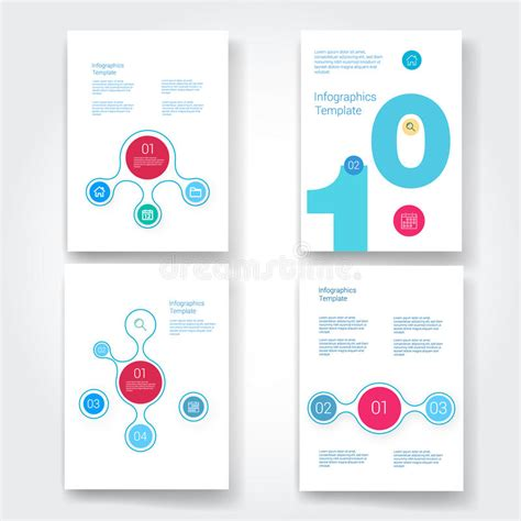 infographic flowchart template set of infographic template layouts flow chart stock