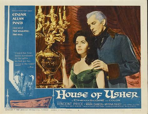 house of usher 1960 1960 house of usher film 1960s the red list