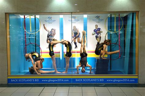 gymnast live window display 2007 by gsos gymnasts pupils