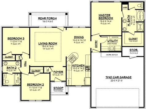 home floor plans 1500 square feet 1100 square feet 1500 square feet 3 bedroom house plan