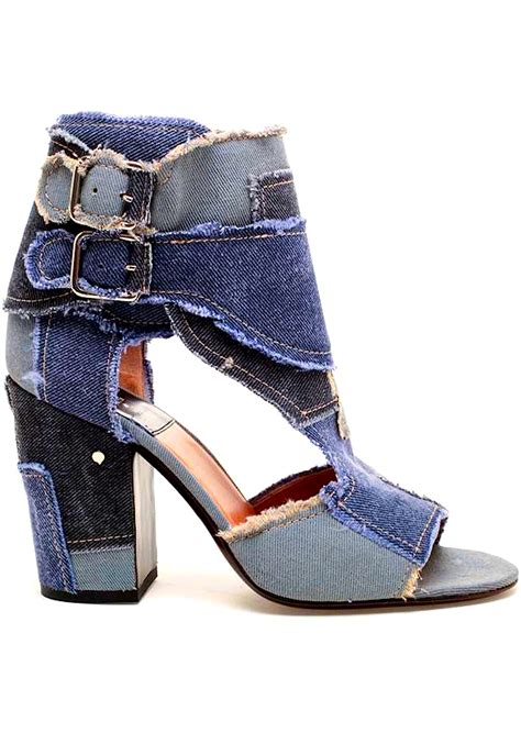 denim high heel shoes laurence dacade shoes booties shoes レ o 乇