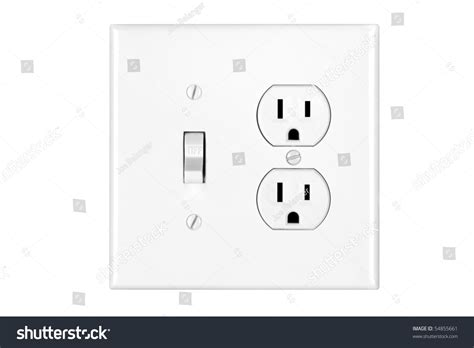 multi power combination light switch power stock photo
