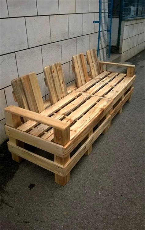 sofa pallets 4 seater pallet outdoor bench or sofa pallet furniture