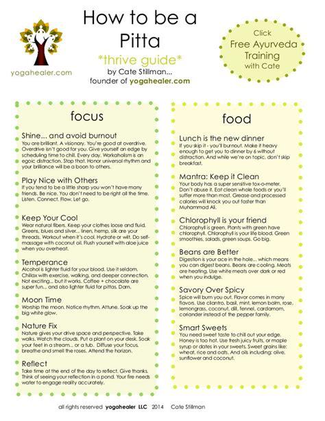 Ayurveda Pitta Detox Diet by Best 25 Ayurveda Pitta Ideas On Pitta Pitta